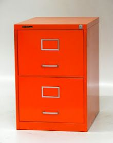 Red 1950s Metal Vertical Filing Cabinet Modern Cabinets And Carts By Elite Furniture Service Office Ideas Pinterest Metals