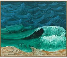 PREVIEW: ART BASEL MIAMI http://www.widewalls.ch/preview-art-basel-miami-beach-2014/ #DavidHockney - A Bigger Wave, detail #ArtBaselMiamiBeach #contemporaryArt
