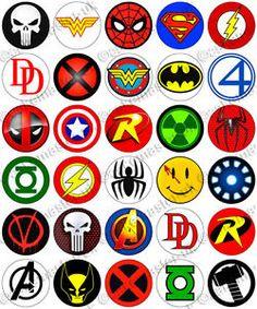 30 x Superhero Logos Party Edible Rice Wafer Paper Cupcake Toppers Marvel Superhero Logos, Superhero Logo Templates, Superhero Symbols, Avengers Symbols, Wafer Paper, Paper Cupcake, Avengers Tattoo, Edible Cupcake Toppers, Unicorn Cake Topper