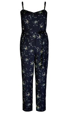 5a29a364557f City Chic - DITSY JUMPSUIT - Women s Plus Size Fashion  citychic   citychiconline  newarrivals