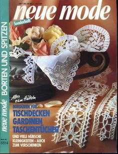 "Photo from album ""Neue Mode on Yandex. Crochet Lace Edging, Crochet Borders, Knit Crochet, Crochet Patterns, Crochet Magazine, Crochet Books, Crochet Fashion, Diy And Crafts, Cross Stitch"