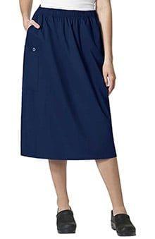 04efc6b7592 Women's Elastic Waist Cargo Scrub Skirt