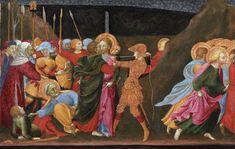 Il Sassetta (Stefano di Giovanni) - Bacio di Giuda, (polittico di San Francesco) - 1437-1444 - Detroit, Institute of Arts