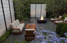 modern courtyard Chicago > residential garden > HOERR SCHAUDT landscape architects