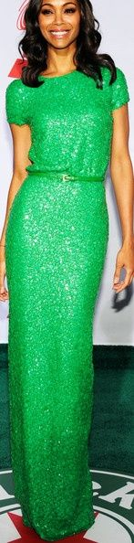 We are obsessed with this emerald Ellie Saab ...