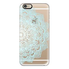 iPhone 6 Plus/6/5/5s/5c Case - Pastel Blue Lace Mandala ($40) ❤ liked on Polyvore featuring accessories, tech accessories, electronics, phone, phone cases, iphone case, iphone cover case, blue iphone case and apple iphone cases