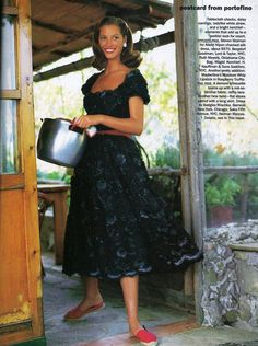 US Vogue December 1993 Christy Turlington by Arthur Elgort and Carlyne Cerf de Dudzeele