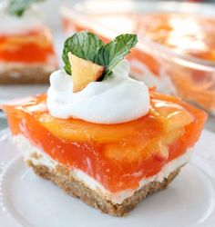If you love peaches you MUST Make this No-bake Fresh Peach Cheesecake Dessert. It is fantastic. The Jello Peach Topping is fantastic and compliments the cream cheese filling and graham cracker crust perfectly