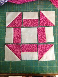 Kwik Quilters: Stitch That Stash churn dash tutorial Quilting Tutorials, Quilting Projects, Quilting Designs, Sewing Projects, Patchwork Quilting, Scrappy Quilts, Easy Quilts, Quilt Block Patterns, Pattern Blocks
