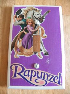 #SW675 - RAPUNZEL - PURPLE - Single Toggle Light Switch Cover - KIDS ROOM - NEW  #LevitonSwitchplate
