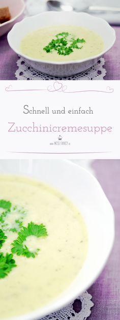 Eine Zucchinicremesuppe kannst du ohne Tütchen ganz einfach frisch  selbst kochen. Mit wenigen Zutaten bringst du eine super leckere Suppe  auf den Tisch!