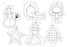 Free printable holiday gift tags for kids to color themselves.
