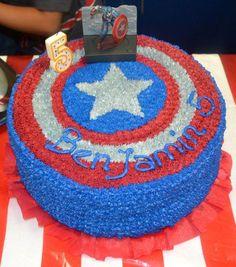 captain america cake pinterest   Captain America cake!!   Party Ideas…