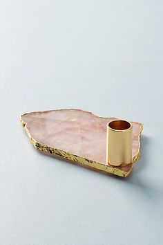Anthropologie Agate Taper Holder Anthropologie, Cute Cups, Bohemian Accessories, Blush Roses, Home Decor Furniture, Things To Buy, Druzy Ring, Natural Stones, Agate