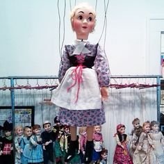 Here's Cinderella before the party. This 809 Cinderella was only available in 1950/51 and 1951/52 Hazelle's brochures. She is the only non-talking version made of Tenite plastic. The previous version had painted composition head and hands.