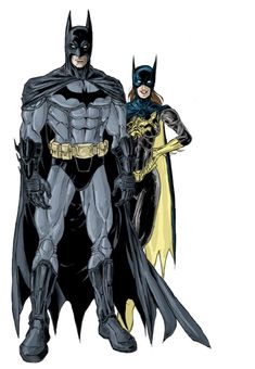Batman and Batgirl by phil-cho on DeviantArt Batman And Batgirl, Batman Art, Batman Robin, Batman Joker Wallpaper, Joker Wallpapers, Batman Kunst, Batman Games, All Black Looks, Naruto And Hinata