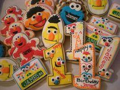 Sesame Street 1st birthday cookies
