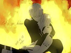 """Kaneki Ken and Nagachika Hideyoshi - Tokyo Ghoul """"Let's go home"""" #tokyoghoul #kanekiken #nagachikahideyoshi"""