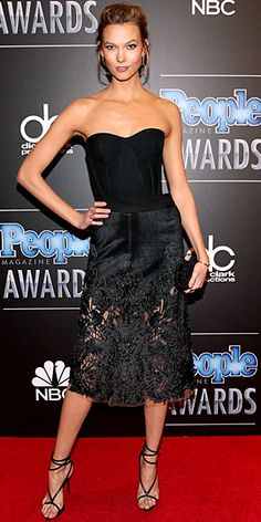 Karlie Kloss in a Zac Posen bodice and Marchesa skirt - PEOPLE Magazine Awards 2014, PMAs Red Carpet : People.com