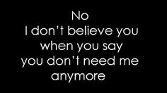 i don't believe you pink lyrics - YouTube