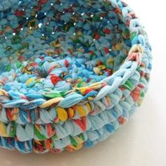 sheet to bowl - crochet by SAburns