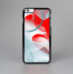 THE ABSTRACT TEAL & RED LOVE CONNECT SKIN-SERT CASE FOR THE APPLE IPHONE 6
