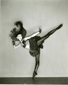 I  never saw Tanaquil LeClercq dance, but from the pictures I've seen, the stories I've read, and the ballets that Balanchine made for her, I'm sure she would have been one of my all-time favorites. Here she is, with her amazing legs, in Western Symphony.