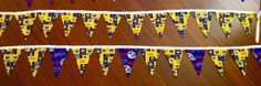 Buffalo sports themed Banners with 12 flags measures approximately 126 inches by GeeGeeGoGo on Etsy