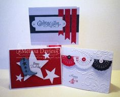 4th Of July Cards | Celebrate Red, White & Blue | Cards to Create - Red, White, & Blue ...