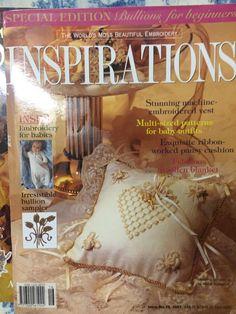 Inspirations Magazine: The World& most beautiful Embroidery Issue 16 Inspirations Magazine, Ribbon Work, World's Most Beautiful, Pansies, Embroidery, Ebay, Patterns, Book, Block Prints