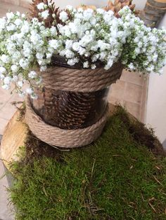 rustic wedding decorations mason jar wedding  gypsophila decor
