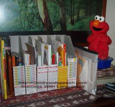 cereal boxes Reused | Recycling Cereal Boxes As Bookcases | Success With Languages