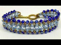 İki renkli Kolay Kristal bileklik yapımı (How to make beautiful easy   b... Beaded Bracelet Patterns, Beaded Bracelets, Jewelry Making Tutorials, Bracelet Tutorial, Handmade Bracelets, Diy And Crafts, Beads, How To Make, Gold