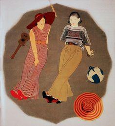 Vintage Illustration - Lee Sutton, via Flickr - Artwork: Kobayakawa Klyoshi 1930