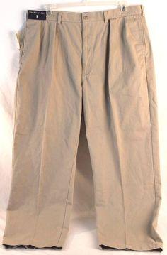 POLO RALPH LAUREN Mens Pants NWT Classic Fit Size 40Wx30L Cotton Pleated Front #PoloRalphLauren #KhakisChinos