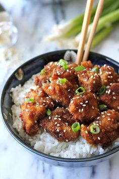 Sesame Chicken - Skip the take-out and try this easy dish right at home!