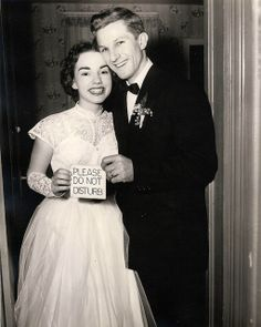 Bride and groom, 1954.
