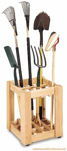 Just need something to organize your rakes and such in your garage or even keep those cumbersome items organized in a shed? Use this storage rack to do just that.
