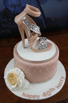 Jimmy Choo Shoe Cake. This is what I want for my birthday next year :)