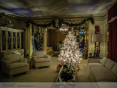 Inside Elvis Presley's Graceland  in Memphis, TN (USA) around Christmas time - by Ricarda Goltz Photography