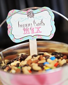 VINTAGE COWGIRL Birthday Party MENU food by studioGdesigns
