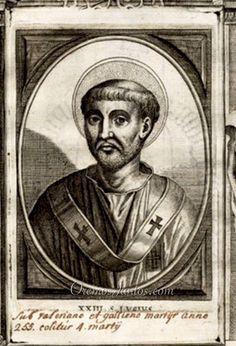 Papa San Lucio, (grabado de 1678)