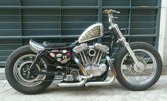 Custom Harley-Davidson XL Sportster 1991-2003   Frisco style gas tank   One-off solo seat Sporster bobber japan style kustom