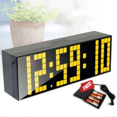 Check lastest price 6 Patterns First Generation LED Large Screen Wall Clock with Backlight External battery case Desk Clock Alarm Clock Living Room just only $34.17 - 46.40 with free shipping worldwide  #clocks Plese click on picture to see our special price for you
