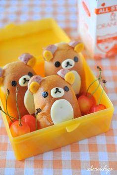 日本人のごはん/お弁当 Japanese meals/Bento リラックマパン弁当  Rilakkuma bread bento