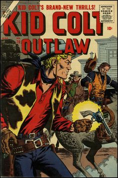 Kid Colt Outlaw #70, March 1957. Cover art by John Severin.