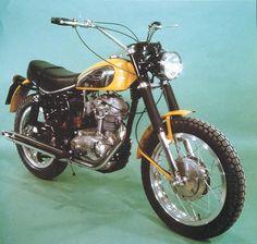 La Ducati Scrambler degli anni '70 cui è ispirata la Borile