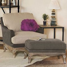 Eco Upholstered Chair and Ottoman | VivaTerra