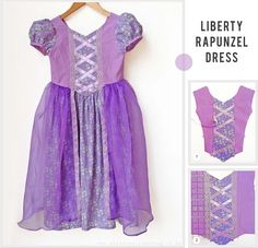 how to make a child's rapunzel costume - Google Search