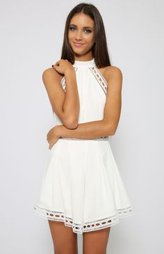 Polo Playsuit - White | New Arrivals | Peppermayo